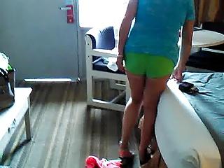 wife motel window flash