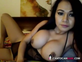Nice tits Asian amateur wife topless chatting sex
