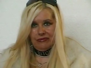 Louise- dominatrix in furs.