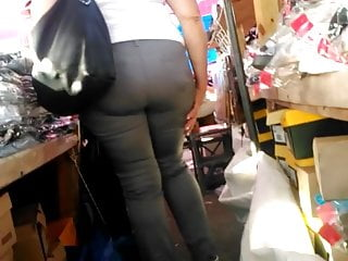 Fat arse mature booty meat Gray trousers