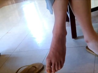 [fetish hunter] chinese soles catched in public library