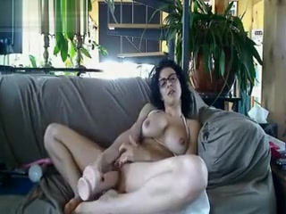 Big-chested wifey tears up XXL plaything