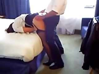 Fuck from behind in the hotel