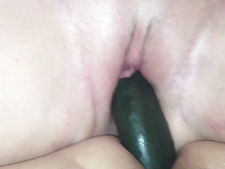 Double dildo with the wife.