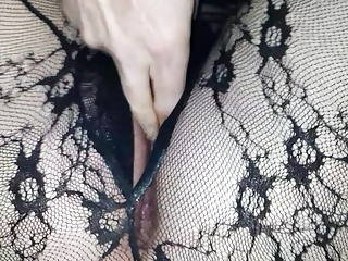 Playing with toy and Hubby fingering my ass