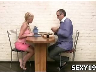 Naughty girl gets fucked sideways