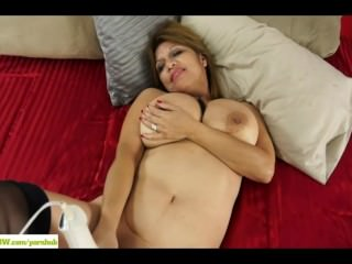Latina Wife Marissa Vazquez Magic Wand Masturbation