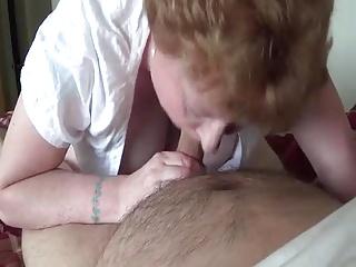 Cristina sucks uncut dick