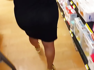 Candid Mature Ass - See Through - Panty Voyeur