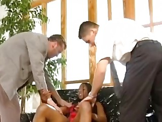 Hung German lawyers fuck a horny big titty African MILF