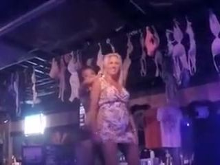 Fuck-fest in a loud bar with a flirty light-haired