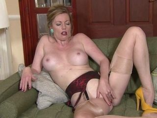 Scorching honey cougar disrobes clothes