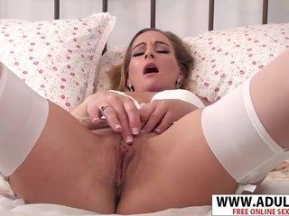 Cougar In milky underwear
