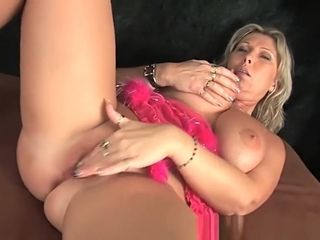 Chunky mature mommy with massive bosoms jerks