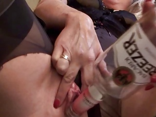 Amateur - Hot Mature Blond Bottles for the Camera
