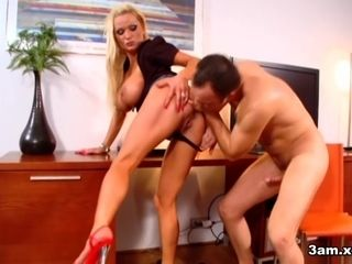 Sharon rosy in Sharon rosy Gets arched Over the Desk - 3amXxx