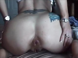 Inexperienced wifey assfuck and cootchie internal ejaculation