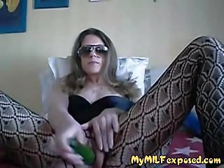 My MILF starkers wed offscourings crotchless stockoffscouringsgs fro cucumber