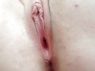 Cumming on Nice Shaved Wife Pussy