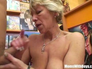 Grannie Miluska penetrating A youthful flick supermarket Clerk