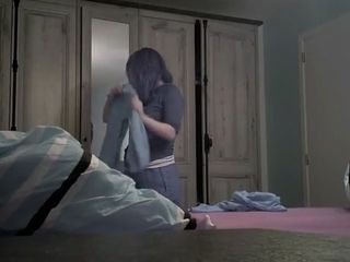 My wifey in the guest room on covert web cam