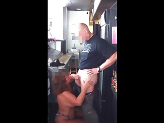 Amateur Suzie Giving Head to Coffee Shop Owner