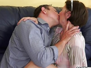 Cockhungry GILF Margo and her newest boy toy