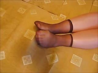 nylon socks love 4