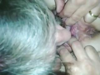 mature carpet munching