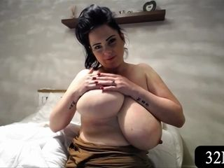 Rachel Aldana Plays With Her marvelous titties