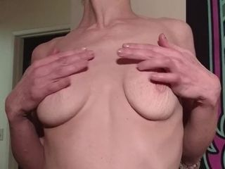 Brief haired lean wifey groping beaver