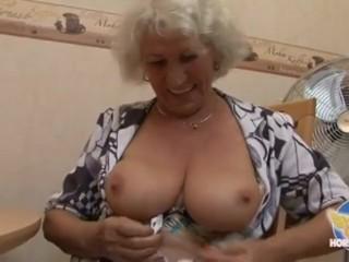 Granny pornstar Norma masturbating 2.