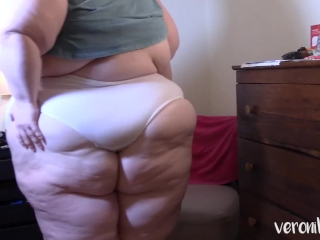 Wedgie in grandma undies SSBBW in total Back undies
