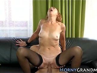 Pantyhose grandma sultry