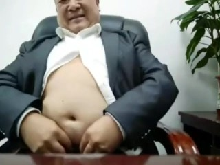 Japanese thick parent Uncle getting off web cam 叔叔