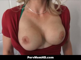 Crazy mummy Stepmom displays fresh gigantic boobs To sonny Gets smashed point of view