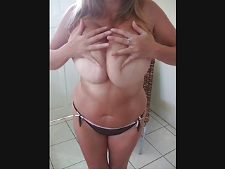 Super stacked British wife teases