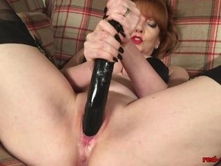 Mature ginger-haired cant wait to jizz with her romp fucktoys