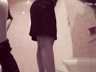 Euro dolls caught by hidden web cam in the public wc