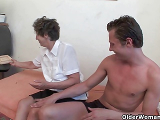 Granny fucks better than his girlfriend