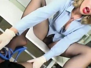 German milf shoejob footjob