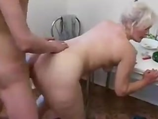 Russian mom kitchen anal