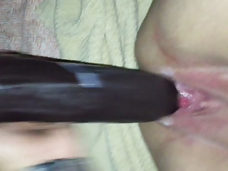 Wife squirts on BBC dildo