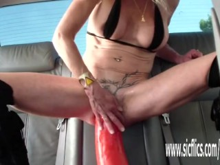 Giant fuck stick tearing up mature inexperienced wifey