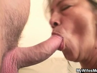 Venerable dam swallows Her Highness immature load of shit