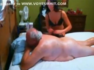 Aged euro tourist had his smallish wiener tugged and fellated on by a muddy Thai call girl