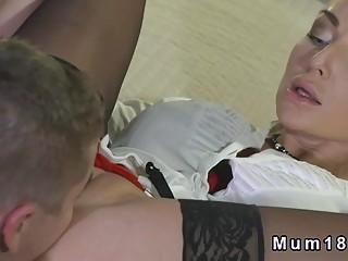 Busty tattooed Milf bangs in lingerie