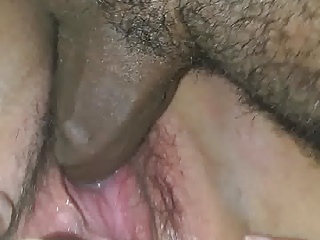my girl squirts on and fucks a bbc raw for the 1st time