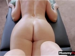 Mummy and stepson fuck-a-thon and rubdown