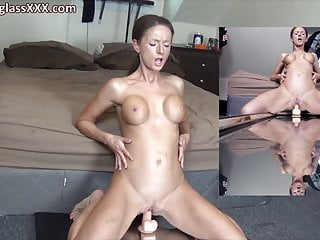 Sinewy MILF Sneat as a pinmmi fucks neat as a pin mirror imneat as a pinge dildo
